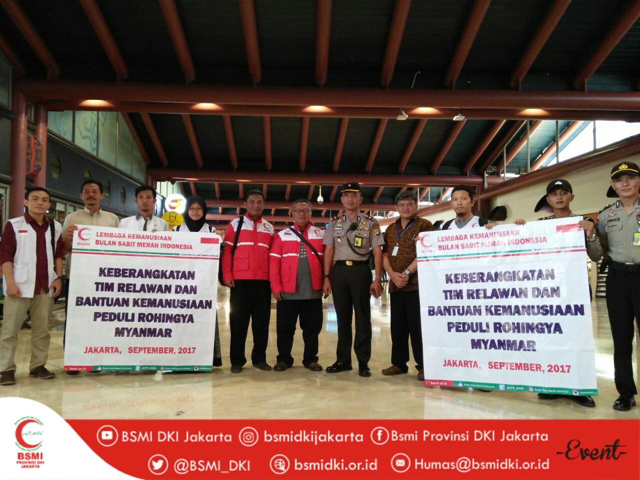 Keberangkatan tim relawan dan bantuan kemanusiaan peduli rohingya myanmar
